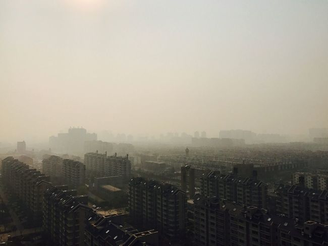 Yellow City:Beijing Cityscape City Building Exterior Architecture Built Structure Fog High Angle View Skyscraper Crowded Modern Residential Building Outdoors Urban Skyline Day Downtown IPhone Photography BEIJING北京CHINA中国BEAUTY Cinema In Your Life