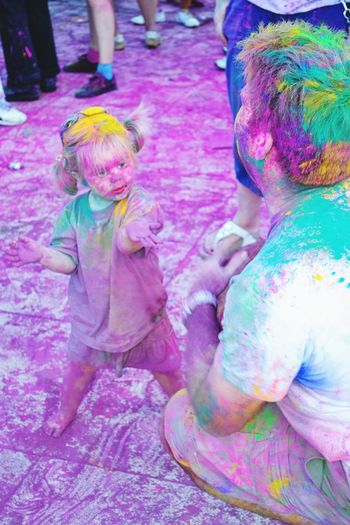 Holi Traditional Festival Multi Colored Celebration Cultures Playing Happiness People Fun Full Length Joy Powder Paint Togetherness Face Powder Leisure Games Child Religion Smiling Adult Life Events be Be. Ready.