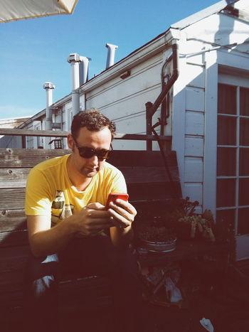 California Boy. Roof Terrace November Sun