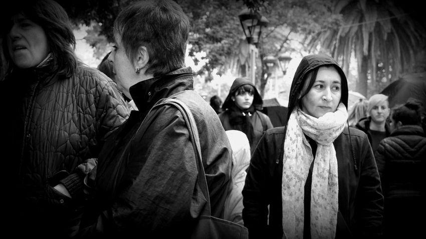 Black And White Rain Blackandwhite Black & White Outdoors Feminist Protest MiercolesNegro Woman Blackandwhite Photography