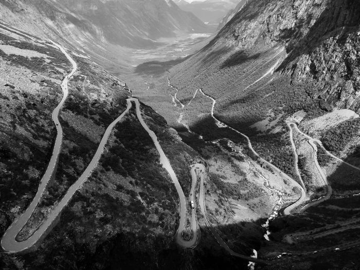 Curves Norway🇳🇴 Beauty In Nature Blackandwhite Crazy Roads Fjord Nature No People Outdoors Physical Geography Scenics