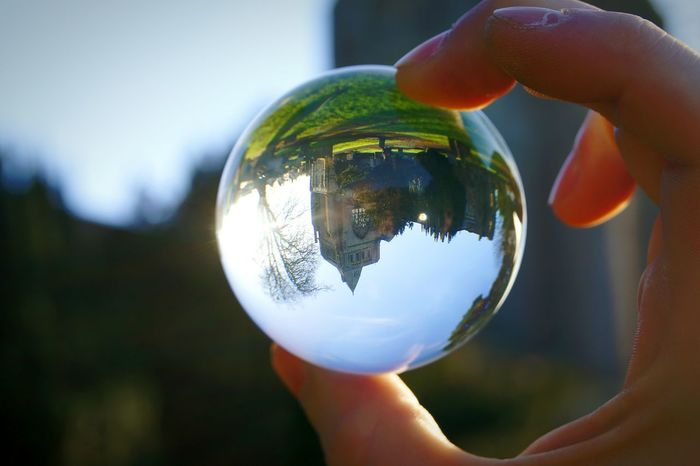 Reflection Crystal Ball Sphere Glass Personal Perspective Architecture