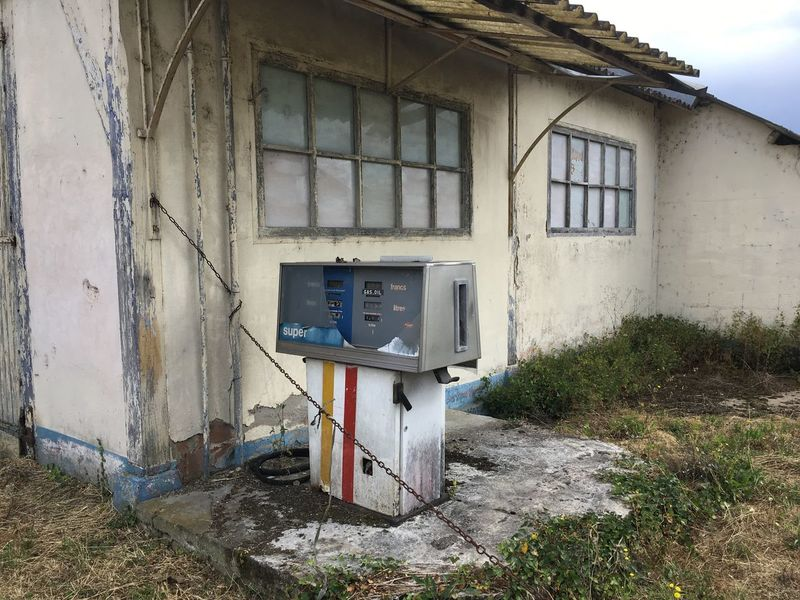 Gas Vintage Old Gasstation Done Out Of Use  Retro Gas Station Very Old Still There Long Time Ago France 🇫🇷 France Vintage Style Retro Style Finished