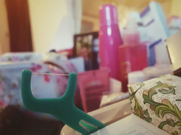 Before Ten Dentist Flossing Indoors  Close-up Dressing Table Dentist Appointment