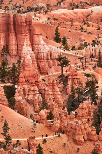 High angle view of bryce canyon national park