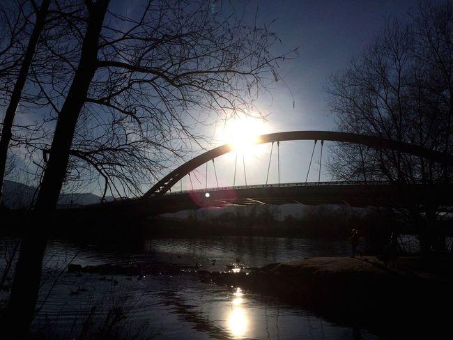 Sun and bridge Negative Space