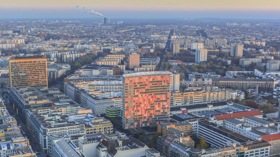 Aerial View Architecture Berlin Building Exterior City Cityscape Crowded Day Outdoors Sky Skyscraper Tower Travel Destinations View