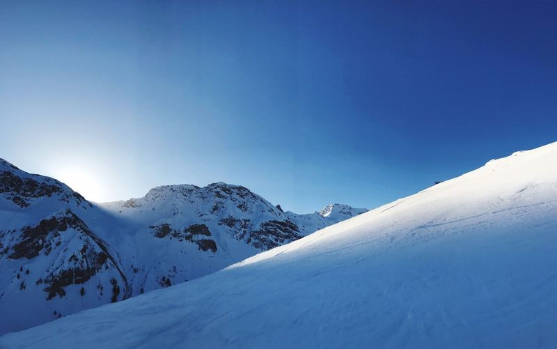 Early Morning Alps Sunrise Winter Outdoor Nature Sonnenaufgang Sunrise Alpen Switzerland Alps Snow Cold Temperature Winter Mountain Sky Beauty In Nature Snowcapped Mountain Nature Clear Sky Mountain Range White Color Day Environment