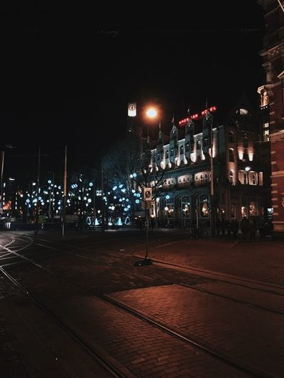 American Hotel Architecture Building Exterior Built Structure City City Lights Illuminated Leidseplein Night No People Outdoors Sky Streetphotography Tree