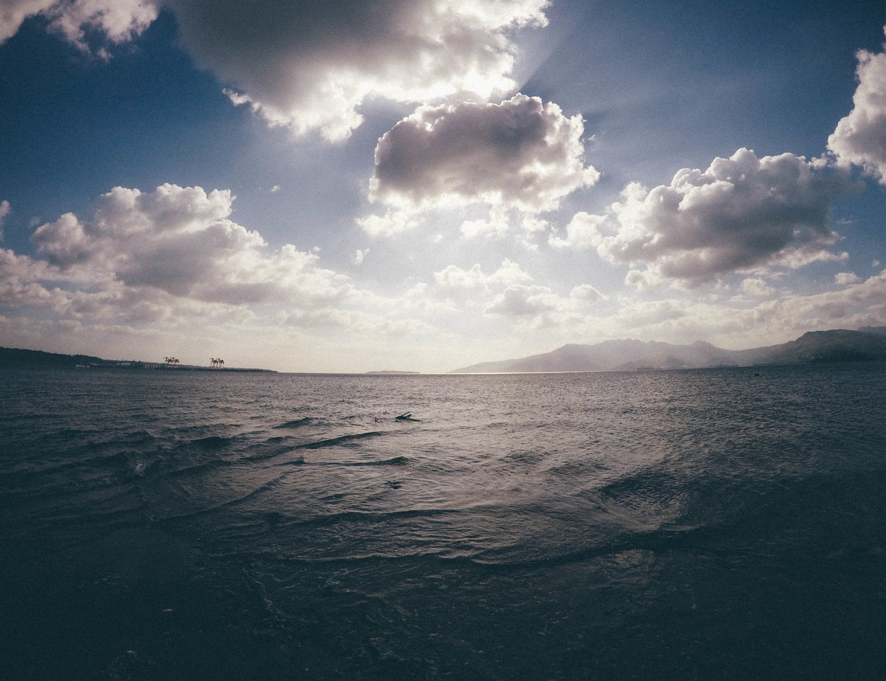 sea, sky, beauty in nature, tranquility, water, scenics, tranquil scene, cloud - sky, nature, no people, rippled, outdoors, horizon over water, day