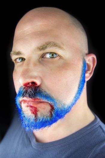 Beard Beardporn Blue Blood Blueblood BLOODY Self Portrait Beards Selfie Selfportrait