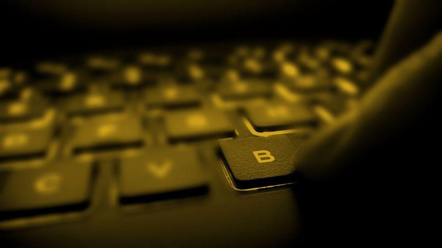 Close-up of laptop keyboard
