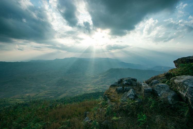 Mountain Sky Cloud - Sky Nature Sun Outdoors Beauty In Nature