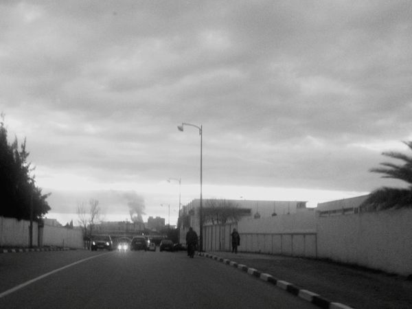 On The Road Driving Walking Pollution In My World Pollution Clouds And Sky Clouds Black & White Xperia S