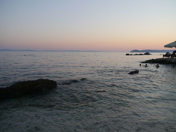 Ovcice Beach in Split OvciceBeach Split Beach Beauty In Nature Clear Sky Day Horizon Over Water Nature No People Outdoors Rippled Scenics Sea Sky Split Croatia Sunset Tranquil Scene Tranquility Water Waterfront Wave