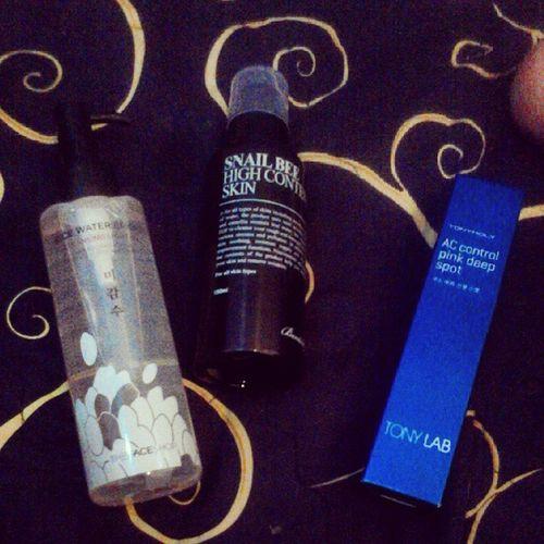My skincare stuff. Skincare Benton Tonylab TheFaceShop