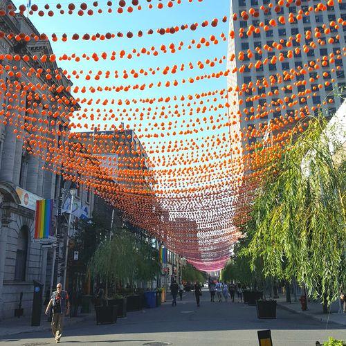 Gay Village, Montreal Hanging Outdoors Gay Pride Gay Gay Village Colorful