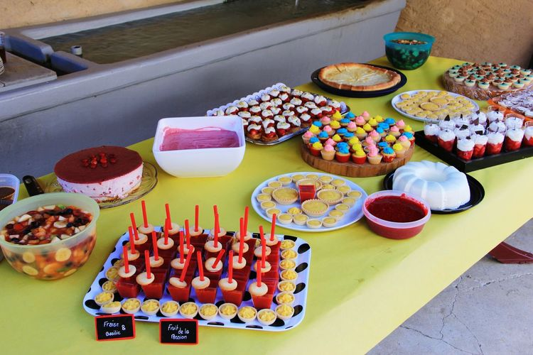 Variety Of Desserts On Table Indoors