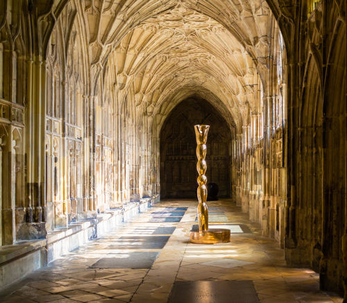 Architecture Arch Religion No People Place Of Worship The Past Corridor Spirituality History Ornate Ceiling Cathedral Gloucester Cathedral Cloisters