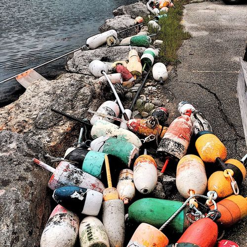 Old Buoys Boothbay Harbor Maine Taking Photos