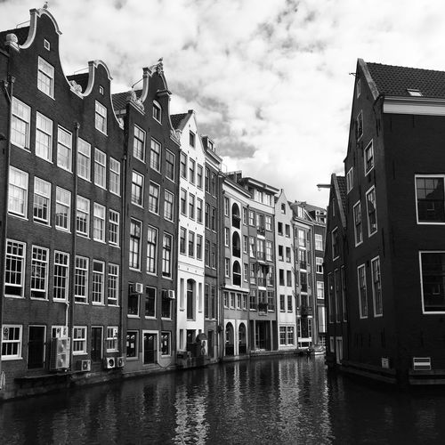 Amsterdam Modern Reflection Architecture Black And White Canals And Waterways City High Contrast No People Outdoors