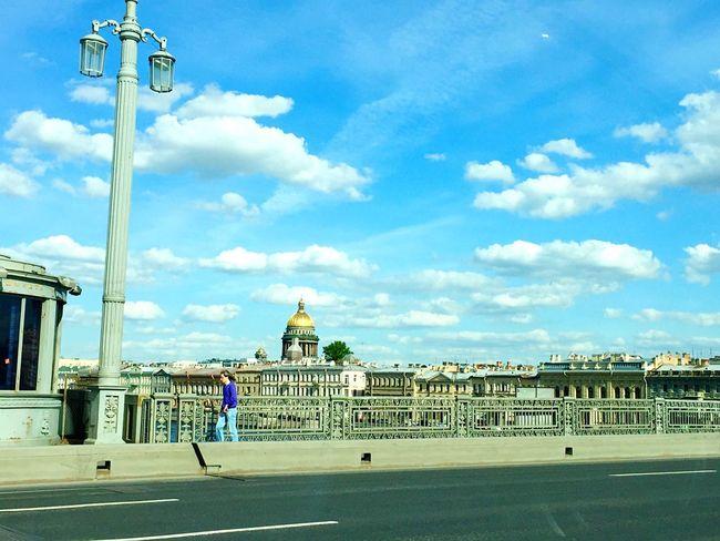 Санкт-Петербург тепло😍 небо⛅️