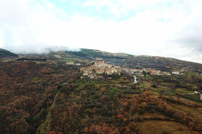 Borgo di Macchiagodena, Molise Mountain Landscape Sky Nature Beauty In Nature No People Day Architecture Cloud - Sky Outdoors