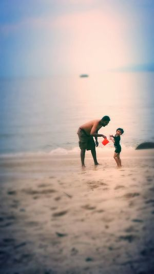 JOY.. First Eyeem Photo Beachview Spur Of The Moment Beautiful Photography Malaysia Beaches Babies Spontaneous Moments Sunlight