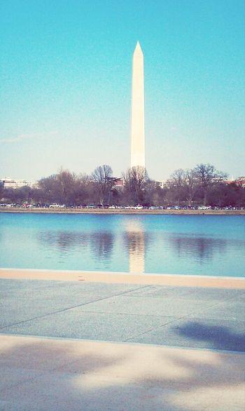 Reflection Sky Washington Monument