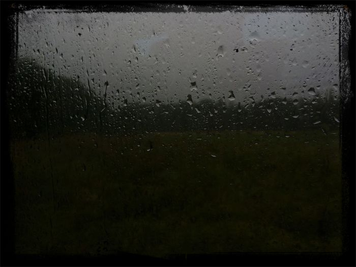 Dark and stormy Eerie Melancholic Landscapes Summer Rain Water Droplets