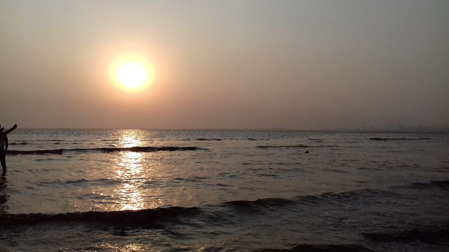 Just live and flow through the nature. Beautiful Earth Beach Beautiful Sea View Beauty In Nature Evening Sky Horizon Horizon Over Water Infinity Light Reflection Nature No People Reflection Scenics - Nature Sea Sea Evening Sky Seascape Seawaves Sky Sun Sunlight Sunset Tranquil Scene Water Wave