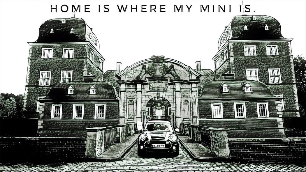 My home is my castle. MinicooperUK Minicooperworld Minicooperswag MinicooperS MiniCooper Architecture Building Exterior Day Built Structure Outdoors No People History