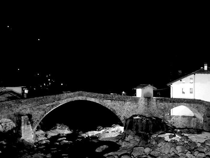 Blackandwhite Architecture Bridge Night River Old Buildings Roman