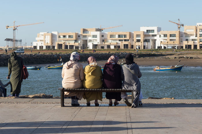 4 Africa Bench Coast Group Headscarf Lonelyplanet Morocco North Africa People People Watching Rabat Sitting Travel Women