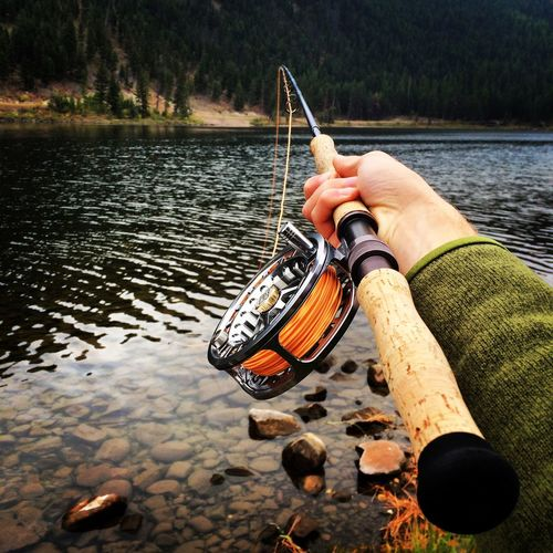Switch rod for pike on Salmon Lake. Fly Fishing Switch Rod Nature Montana Fall Lake Fly Rod Northern Pike