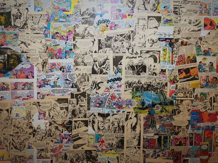 Comics Bilbao Comics Wallpaper Comic Tebeo Multi Colored Backgrounds Full Frame Text Close-up Street Art ArtWork Drawing Mural Art Colored Pencil Handprint Colorful