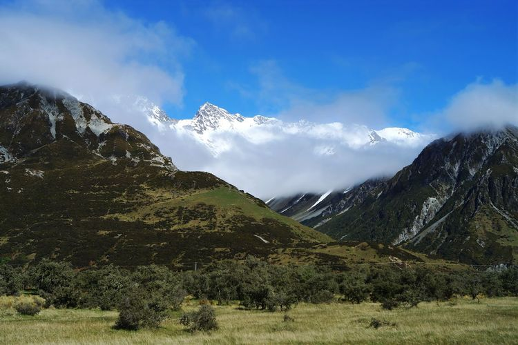 Scenic view of mt cook