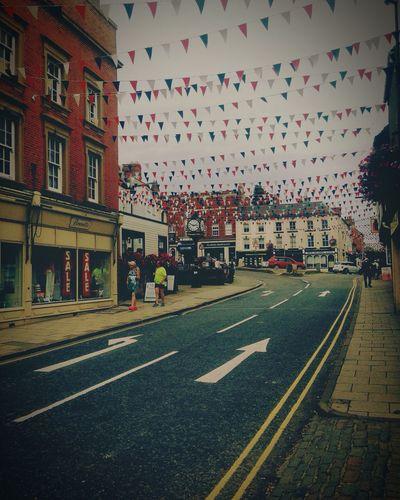 Ashbourne is so cute ☁️ Ashbourne Cute Flags Cloudy Derbyshire Dayout