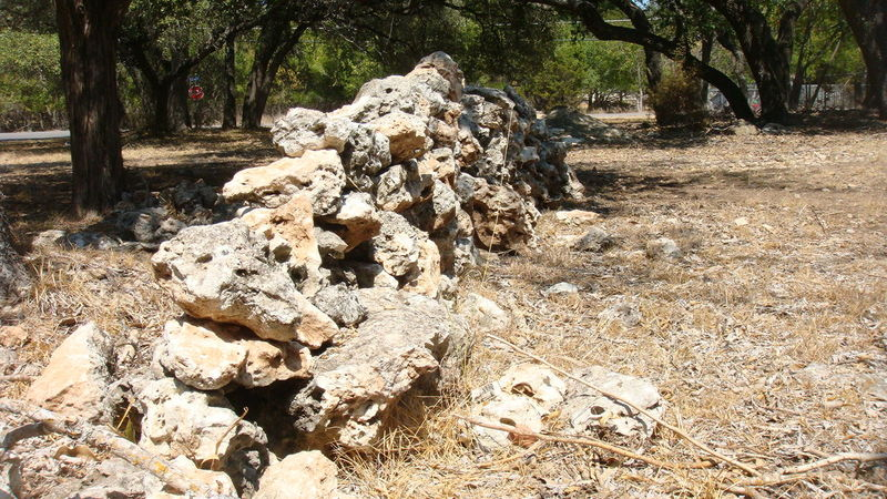 Tree Outdoors Day Nature No People Sunlight Rocks, Boulder, Stone, Pebble Wall Decayed Beauty Texas