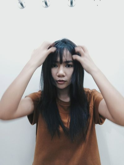 Be crazy sometimes Long Hair Bangs Looking At Camera Beuty One Woman Only Only Women Day One Young Woman Only Photoshoot Photo Photooftheday