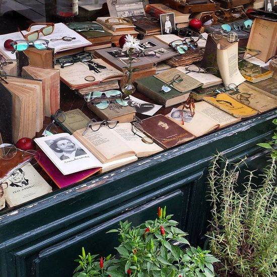 Belgrade Windowshopping Glasses Books