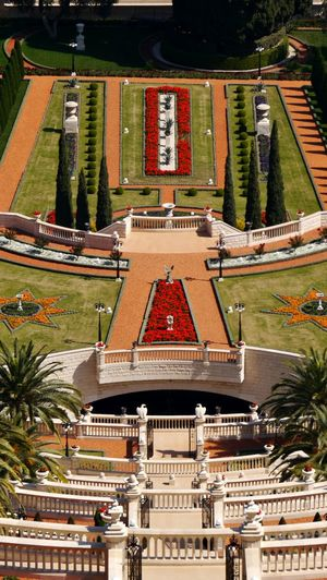 Beautiful garden architecture High Angle View Architecture No People Eyem Gallery EyeEm Gallery Geometric Architecture Geometric Shape Looking Down Cropped Area Cropped Garden Colorful Abstract Haifa Israel Part Of Bahai Garden Bahai Gardens Neighborhood Map