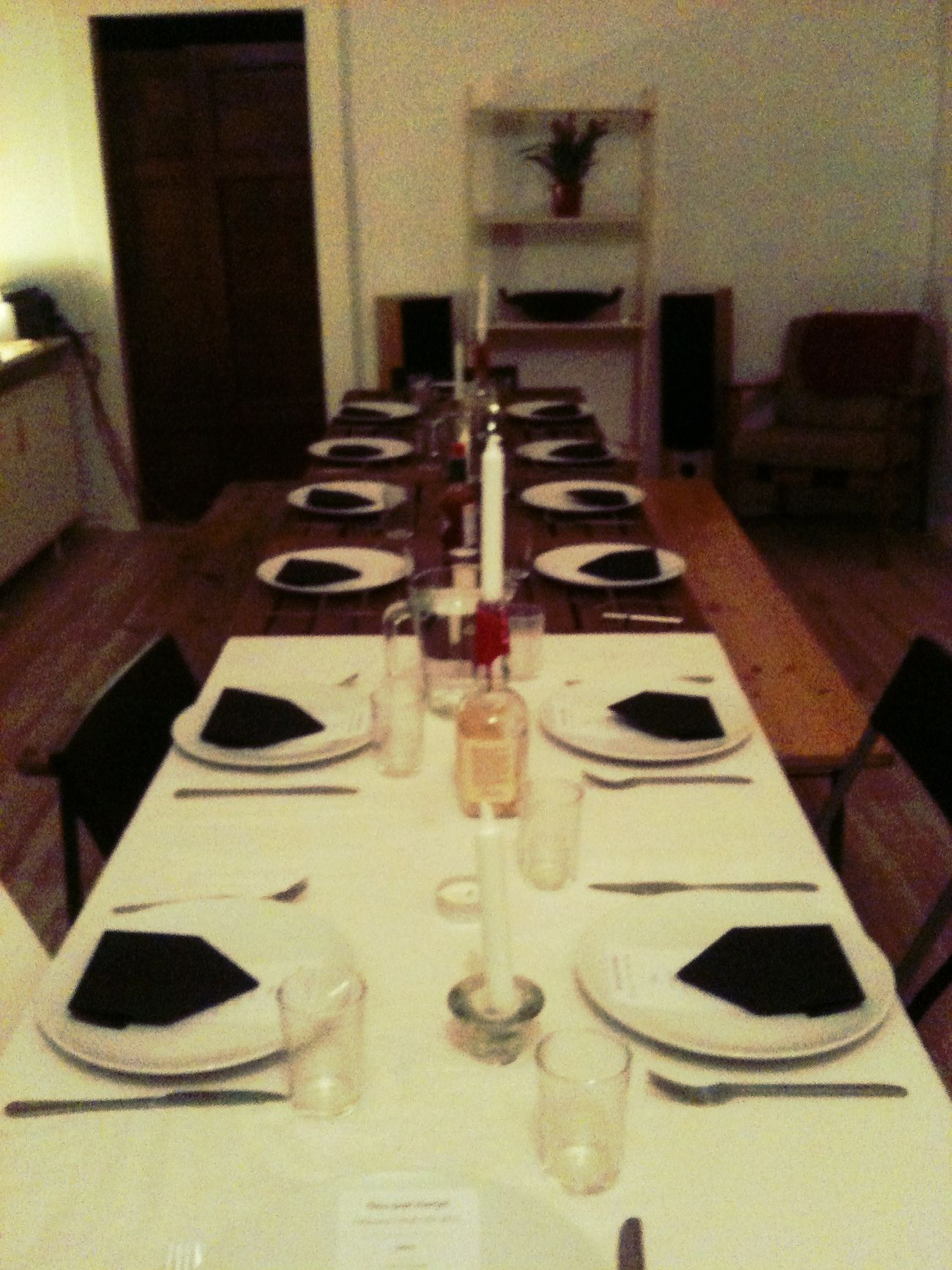 dinner table at