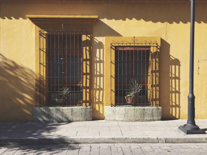 Yellow Mexico Oaxaca Colonial Architecture Mexican Architecture Mexican Style Built Structure Architecture Building Exterior Sunlight Entrance Building Door