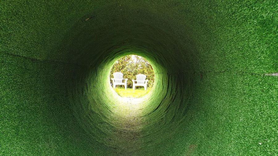 View of tunnel through hole
