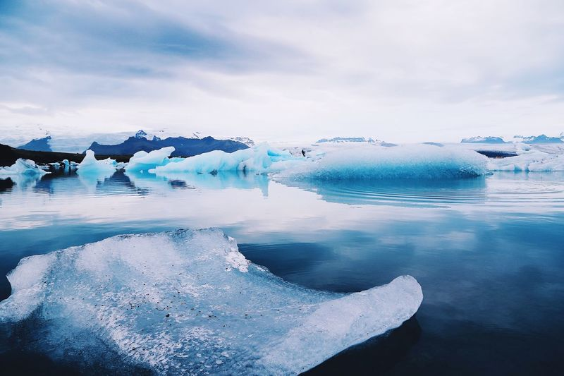 Cold Temperature Ice Frozen Winter Snow Glacier Iceberg Beauty In Nature Nature Water Iceberg - Ice Formation Weather Scenics Sky Lake Outdoors Melting Tranquility Tranquil Scene Frost