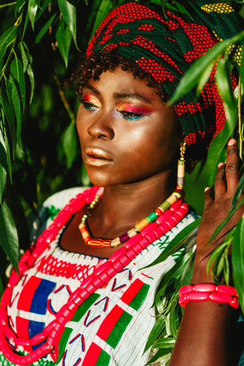43 Golden Moments African African Beauty Casual Clothing Day Ethnic Ethnicwear Golden Green Green Color Green Color Green Trees Leisure Activity Lifestyles Outdoors Portrait Showcase July TakeoverContrast