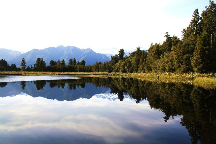 Beauty In Nature Cloud - Sky Day Lake Mountain Mountain Range Nature New Zealand New Zealand Landscape New Zealand Scenery No People Outdoors Reflection Scenics Sky Symmetry Tranquil Scene Tranquility Tree Water Waterfront