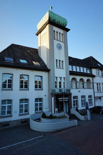 Town-Hall Architecture Building Exterior Built Structure Clock Clock Face Clock Tower Day Framehouses Herdecke House Hôtel De Ville Illuminated In Westphalia No People Old Town Square Outdoors Sky Small Town Townhouse Tree Village Photography