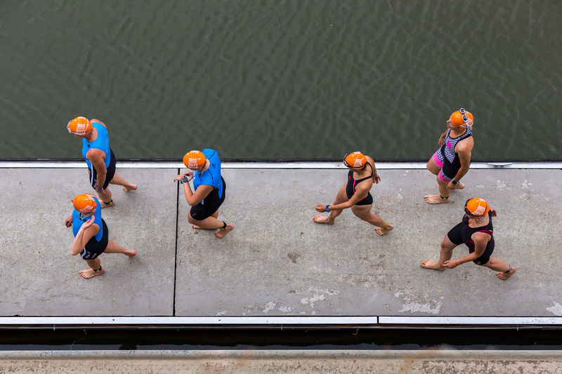 Duesseldorf, Germany Deutschland Düsseldorf NRW TRIATHLON Badekappe Competition Competitive Sport Germany Outdoors People Sport Sportsman Swimmer Teamwork Water EyeEm Ready   The Street Photographer - 2018 EyeEm Awards